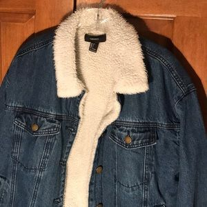 Dark Denim Fur Lined Jacket